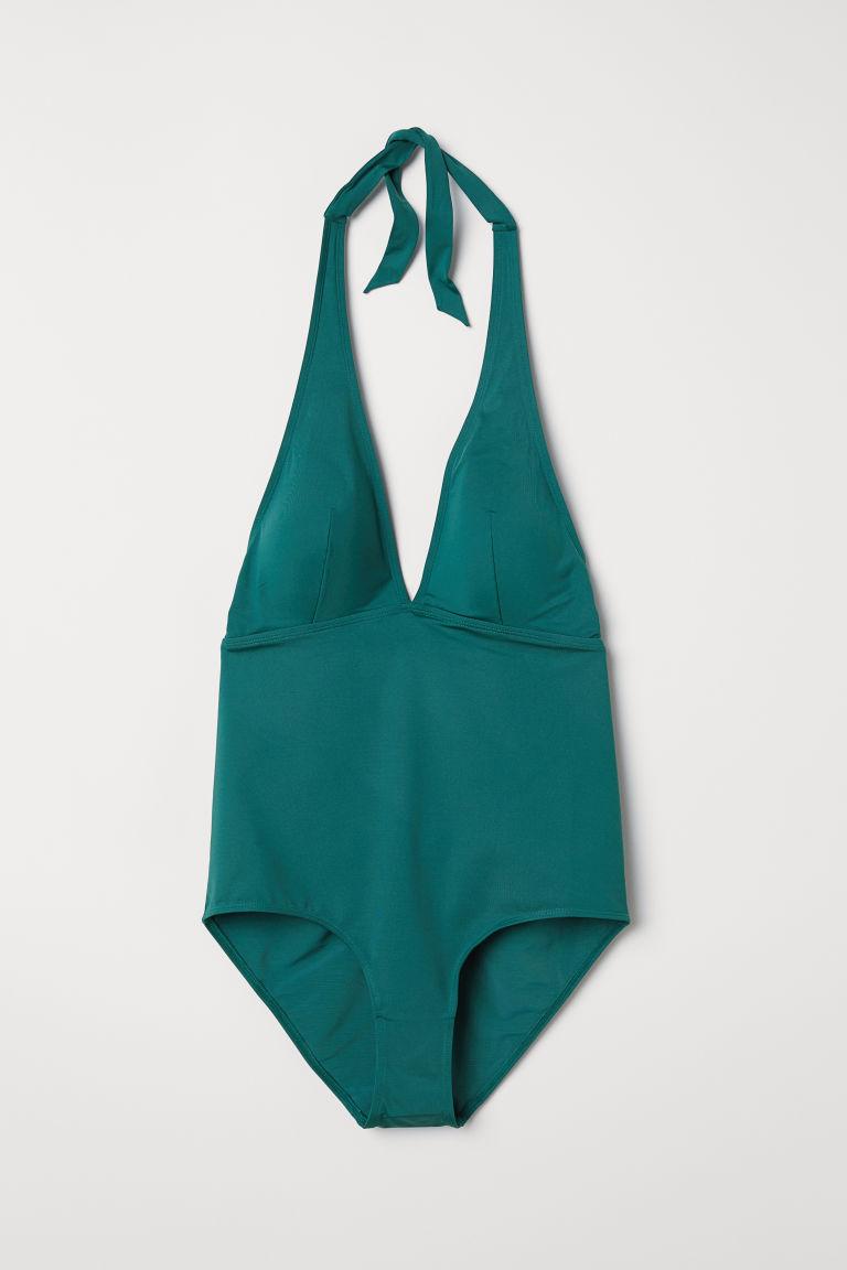 H&M+ Bañador efecto moldeador - Verde esmeralda - | H&M ES 1