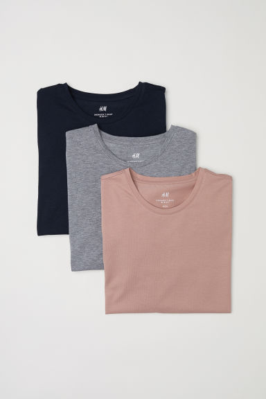 Set van 3 T-shirts - Slim fit - Abrikoos -  | H&M BE