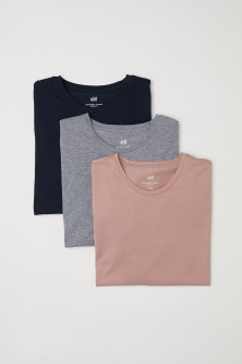 3-pack T-shirts Slim Fit