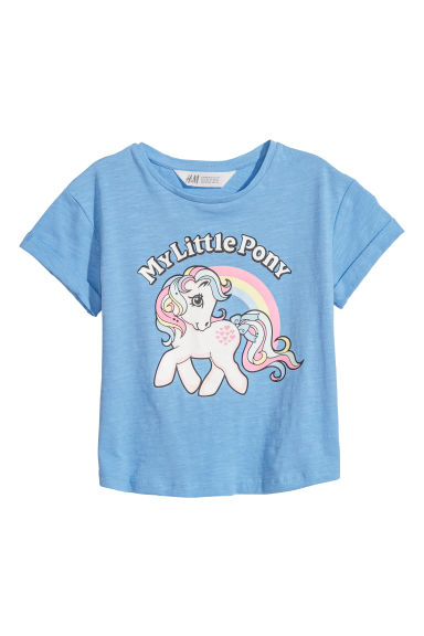 Printed T-shirt - Blue/My Little Pony - Kids | H&M