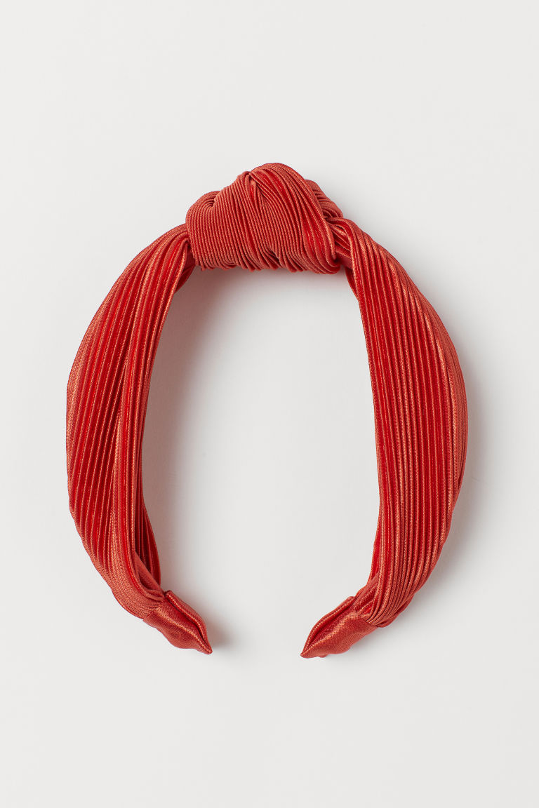 Hairband with Knot Detail - Orange - Ladies | H&M US