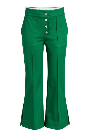 Cropped trousers - Green -  | H&M