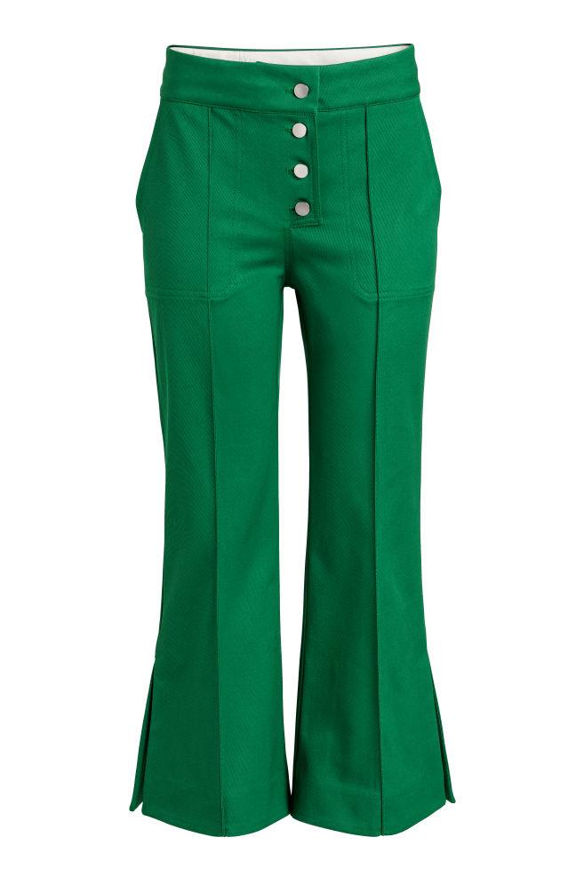 c7fa7d3a3dfa8 Cropped trousers - Green - Ladies