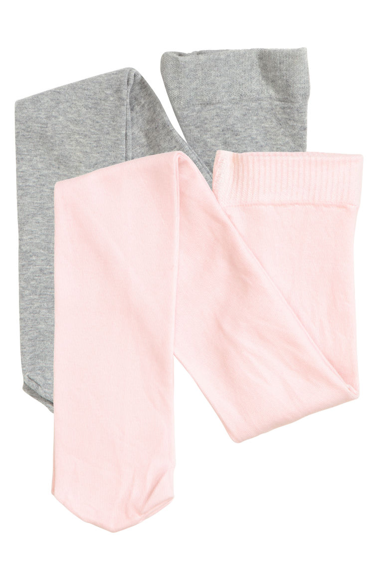 2-pack fine-knit tights - Light pink - Kids | H&M IE