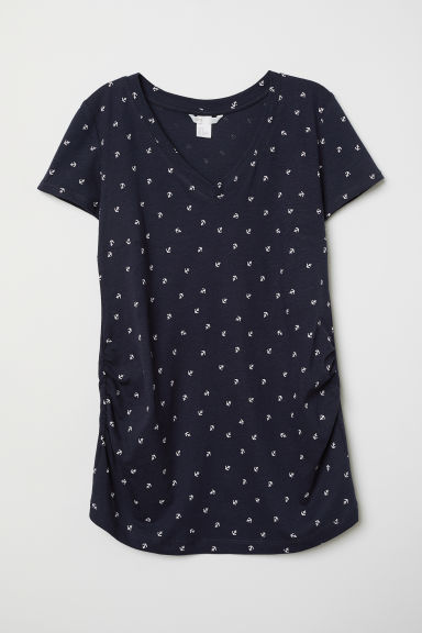 MAMA Top con scollo a V - Blu scuro/ancore - DONNA | H&M IT