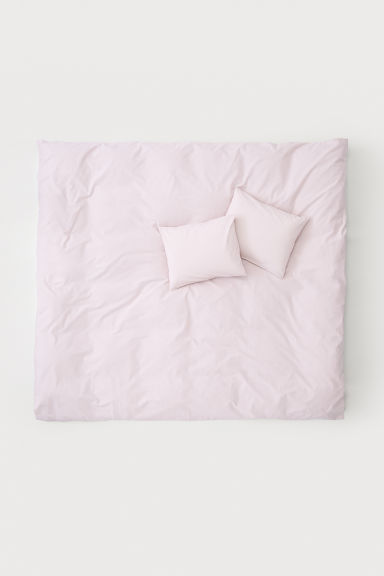 Cotton duvet cover set - Light pink - Home All | H&M IE