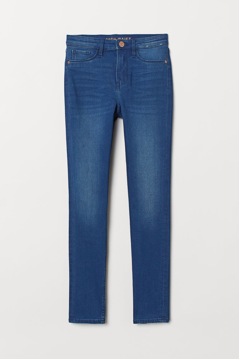 Skinny Fit High Jeans - Blu denim scuro - BAMBINO | H&M IT