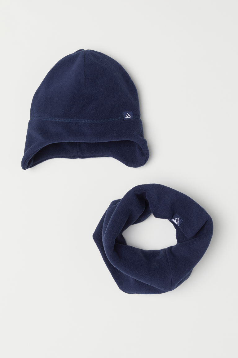 Hat and scarf - Dark blue -  | H&M