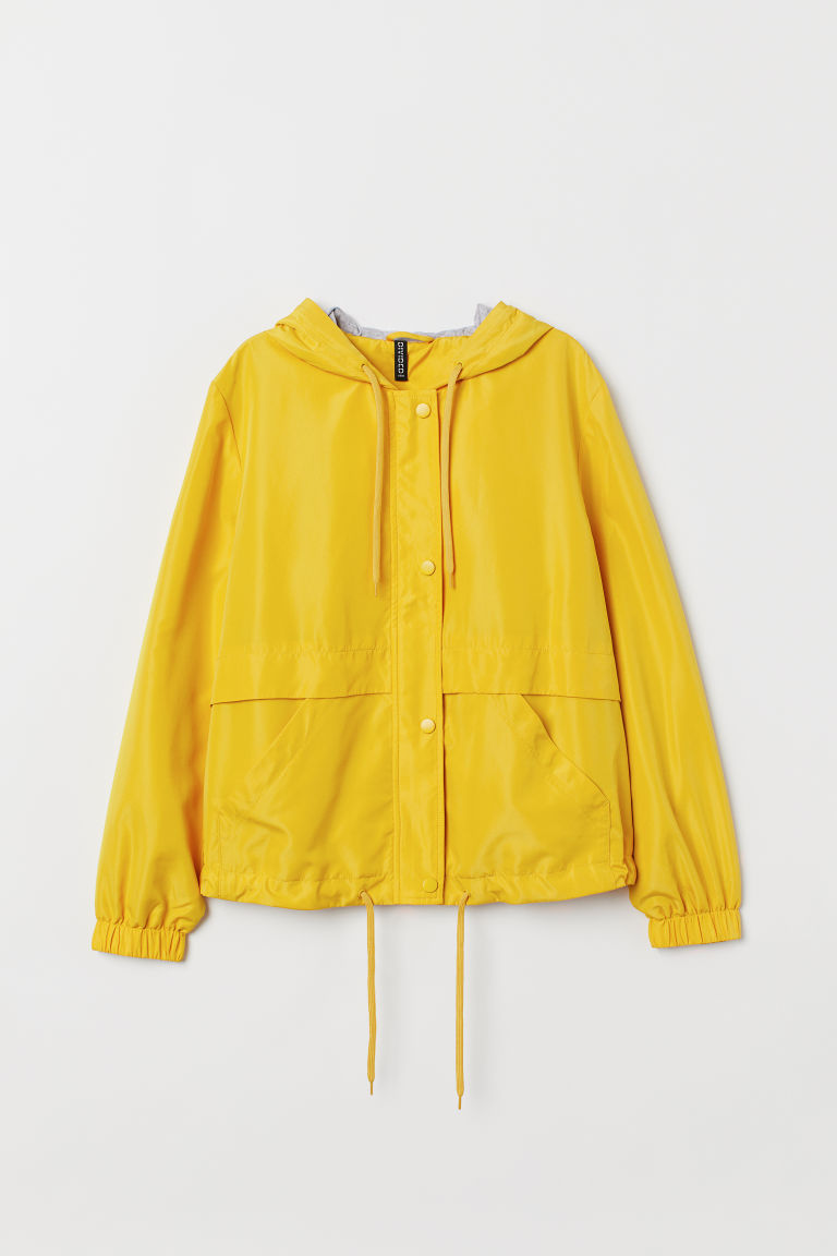 Hooded jacket - Yellow -  | H&M IN