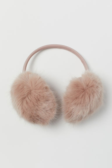 Faux Fur Earmuffs - Powder pink -  | H&M CA