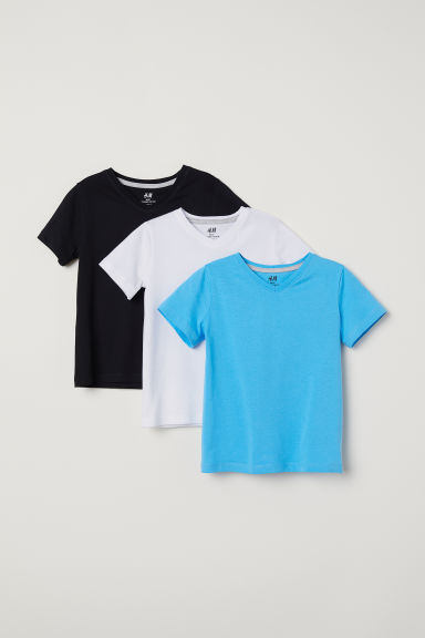 3-pack T-shirts - Blue/White/Black - Kids | H&M