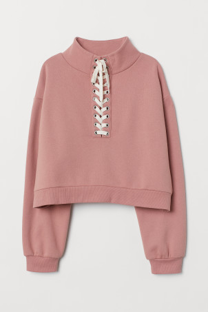 Sweatshirt with lacing