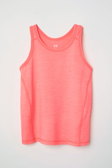 Sports vest top - Neon pink - Kids | H&M IE