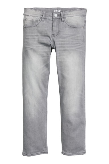 Skinny Fit Lined Jeans - Denim grey -  | H&M IE
