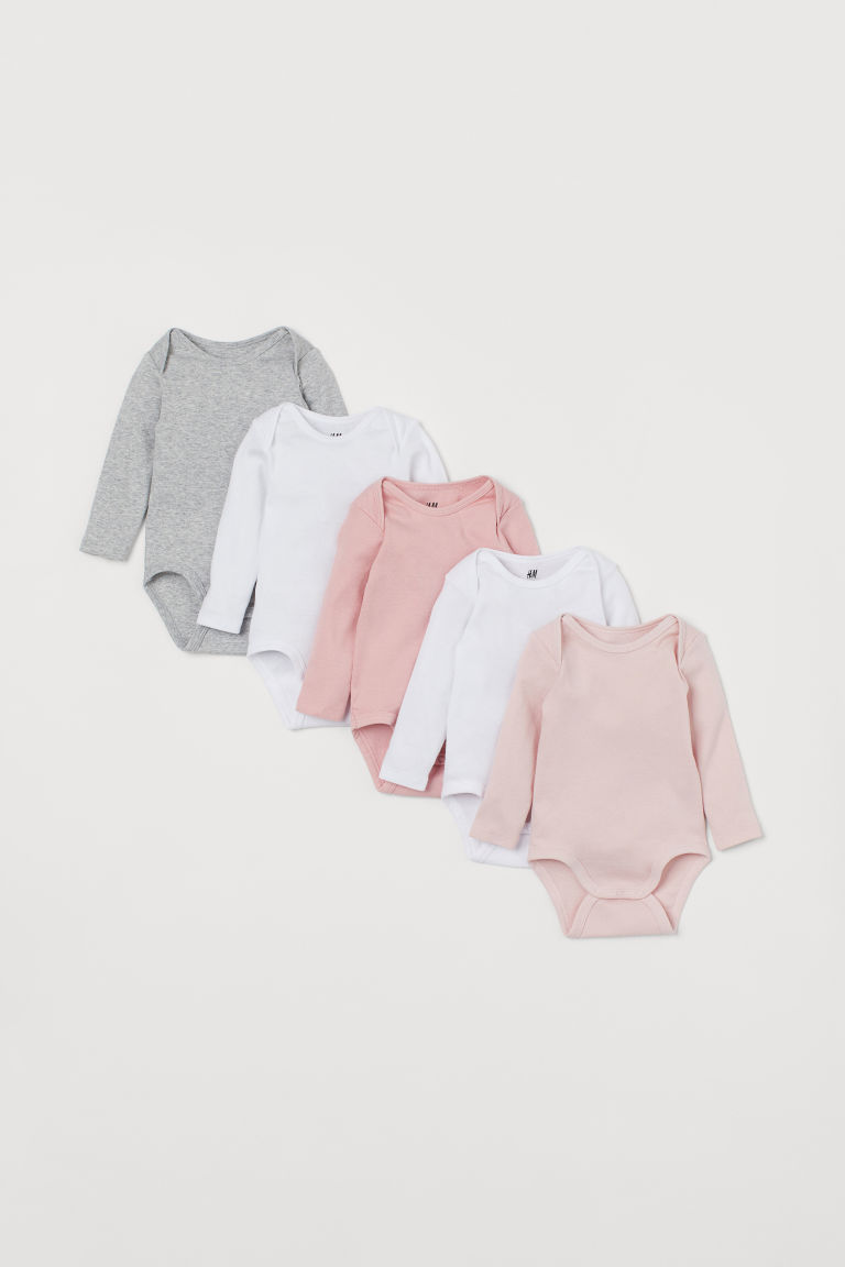 5er-Pack Bodys - Weiß/Rosa - Kids | H&M AT