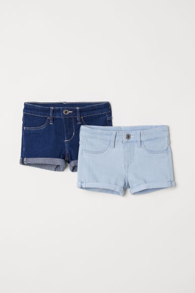 2-pack denim shorts - Light blue - Kids | H&M CN