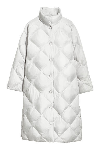 Long down jacket - Light grey - Ladies | H&M CN