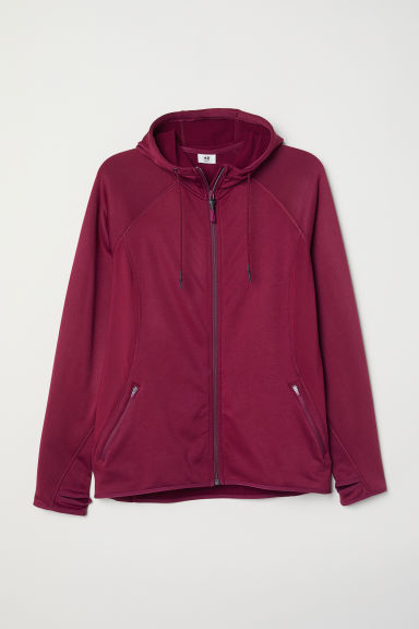 H&M+ Fleece outdoor jacket - Plum - Ladies | H&M