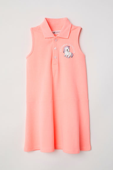 Piqué dress - Coral - Kids | H&M