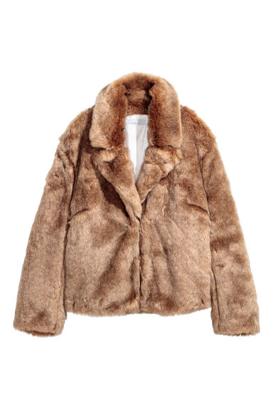 Faux fur jacket - Light brown - Ladies | H&M