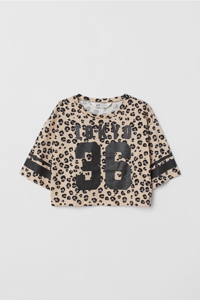 70f7a3b4bdfa Krátké tričko s potiskem - Béžová Tokyo - DĚTI