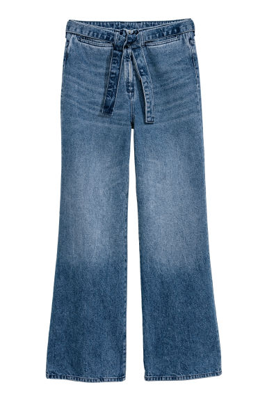 Slim High waist Jeans - Denimblauw -  | H&M NL