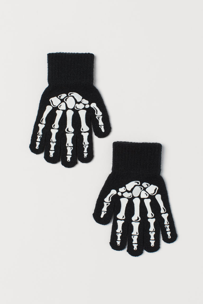 Fancy dress gloves - Black/White -  | H&M GB