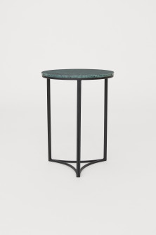 Side table with a marble top