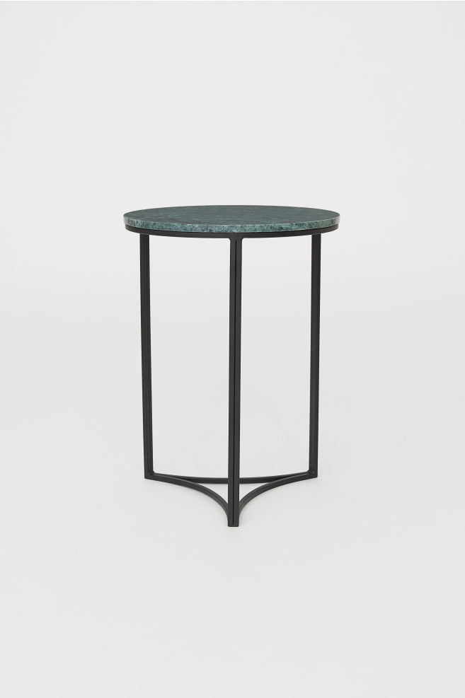 009647b38b883b Side table with a marble top - Green - Home All | H&M ...