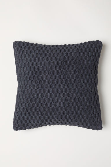 Jacquard-weave cushion cover - Anthracite grey - Home All | H&M CN