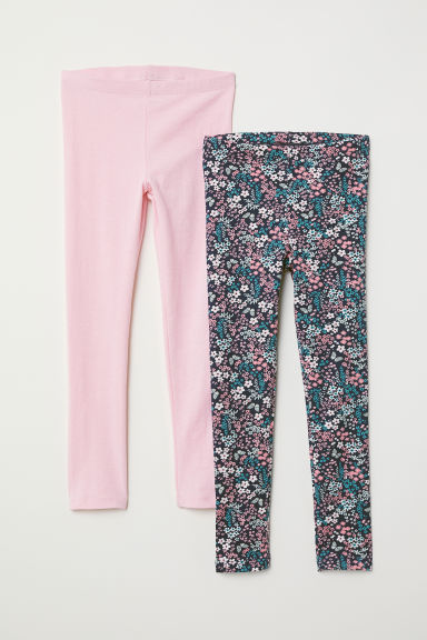 2-pack leggings - Dark blue/Pink - Kids | H&M