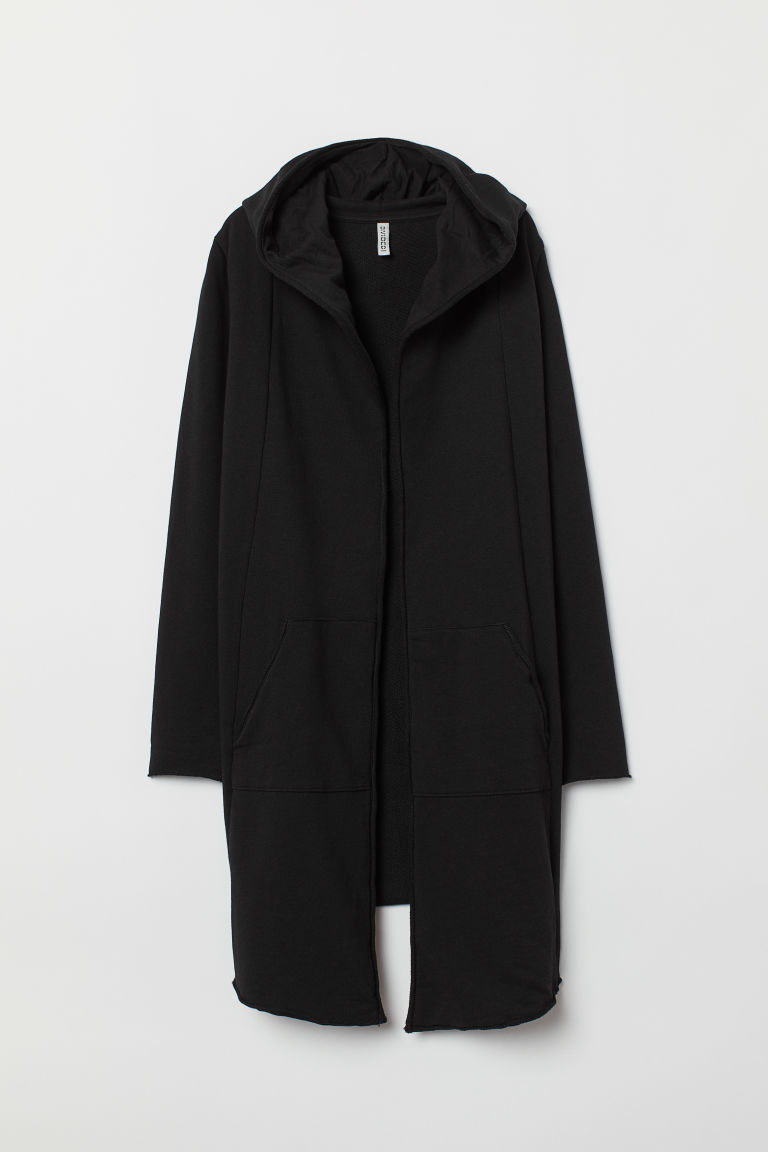 Hooded sweatshirt cardigan - Black - Ladies | H&M CN