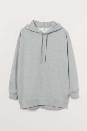 Oversized cotton hoodieModel