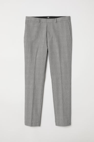 Suit trousers Skinny fit - Black/White checked -  | H&M