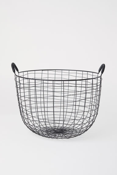 Round metal wire basket - Black - Home All | H&M IE