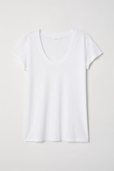 Modal-blend T-shirt - White - Ladies | H&M