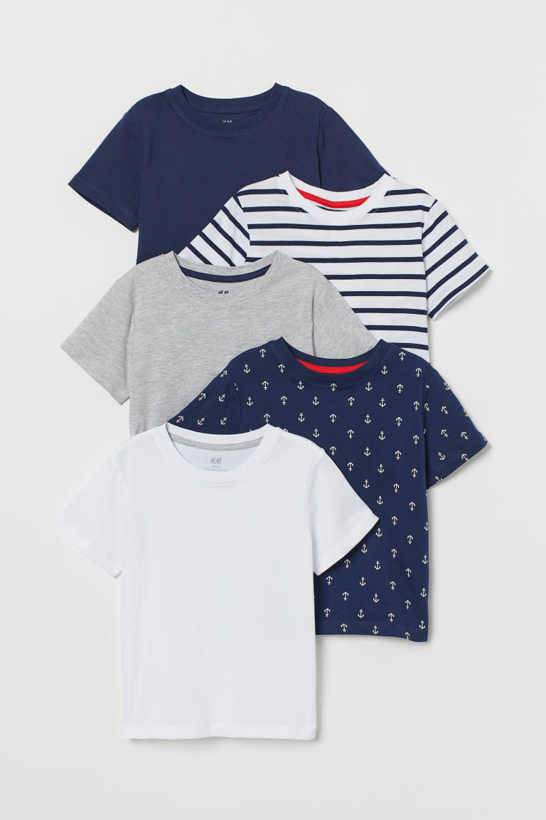 5-pack cotton T-shirts - White/Multicoloured - Kids | H&M GB