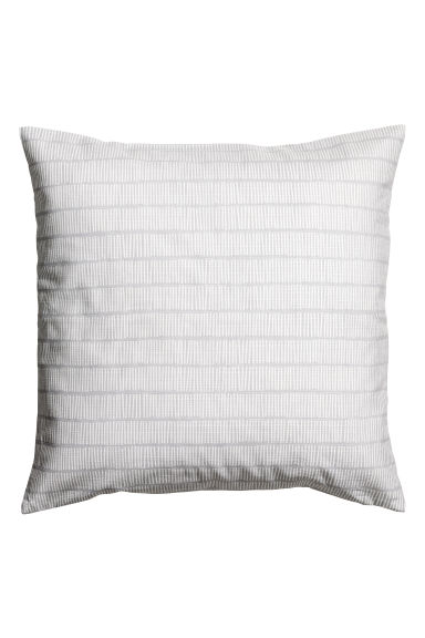 Slub weave cushion cover - Light grey -  | H&M CN