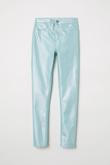 Stretch trousers - Mint green/Metallic - Kids | H&M CN