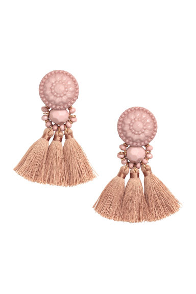 Earrings with tassels - Powder -  | H&M