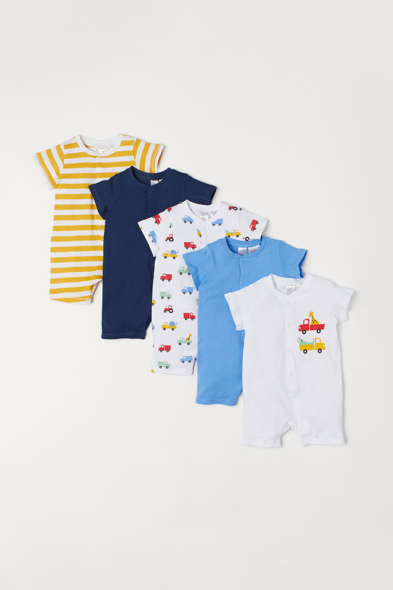 5-pack jersey pyjamas - Blue/Cars - Kids | H&M