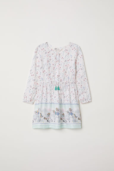 Patterned dress - White/Patterned - Kids | H&M