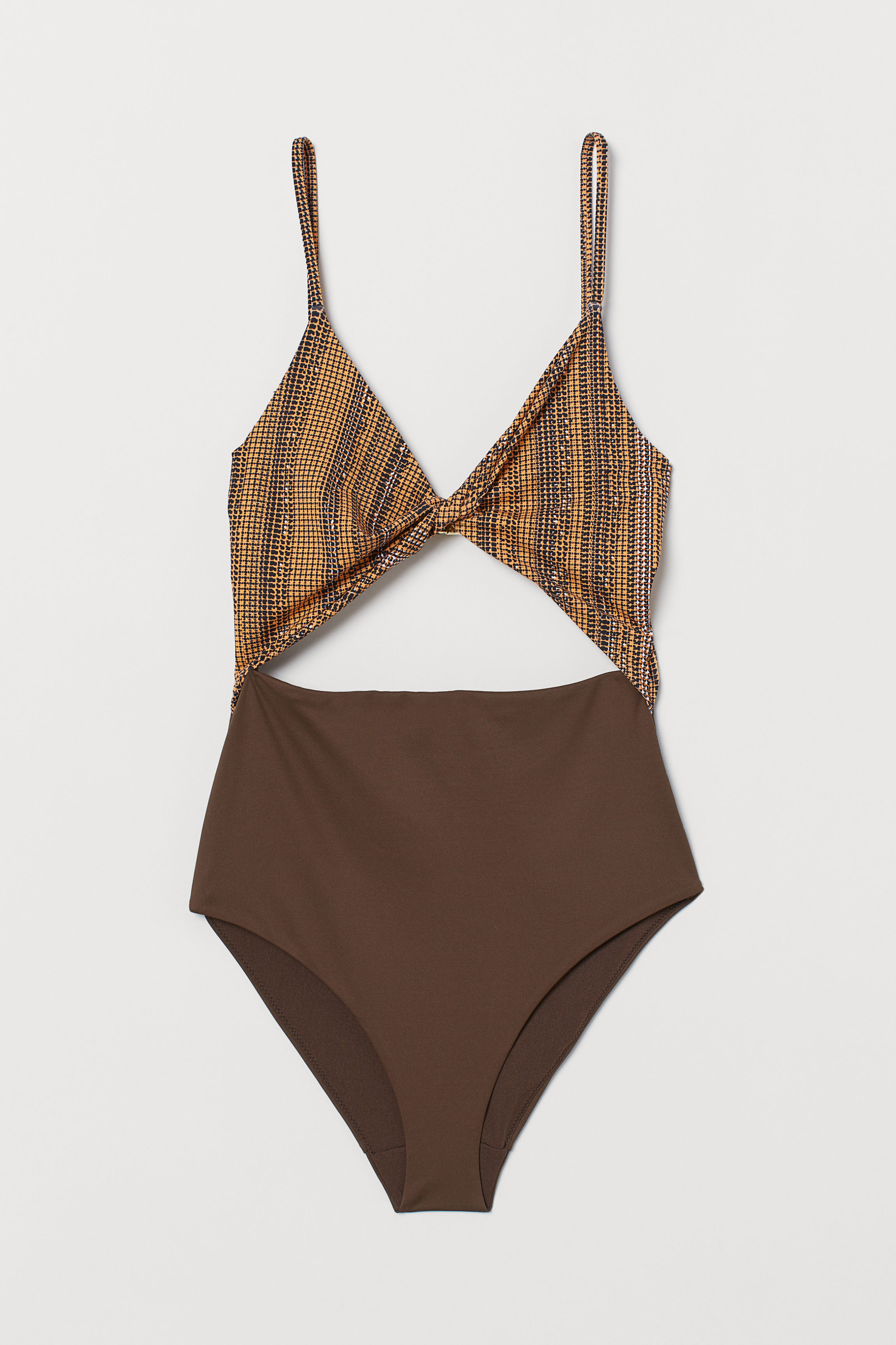 8c589e5c02 Cut-out swimsuit - Cream/Black - Ladies | H&M GB