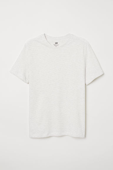 T-shirt Regular fit - White/Grey striped -  | H&M