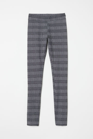 Patterned leggings - Grey/Checked - Ladies | H&M CN