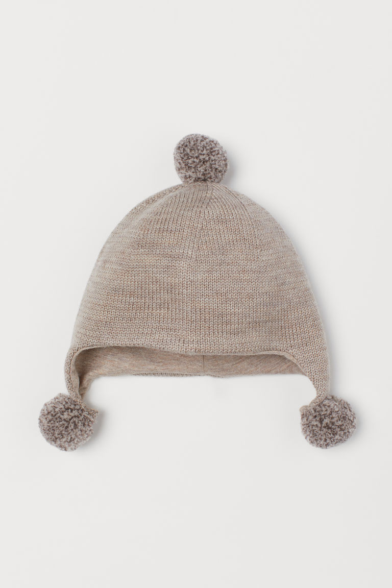 Wool hat with pompoms - Mole - Kids | H&M