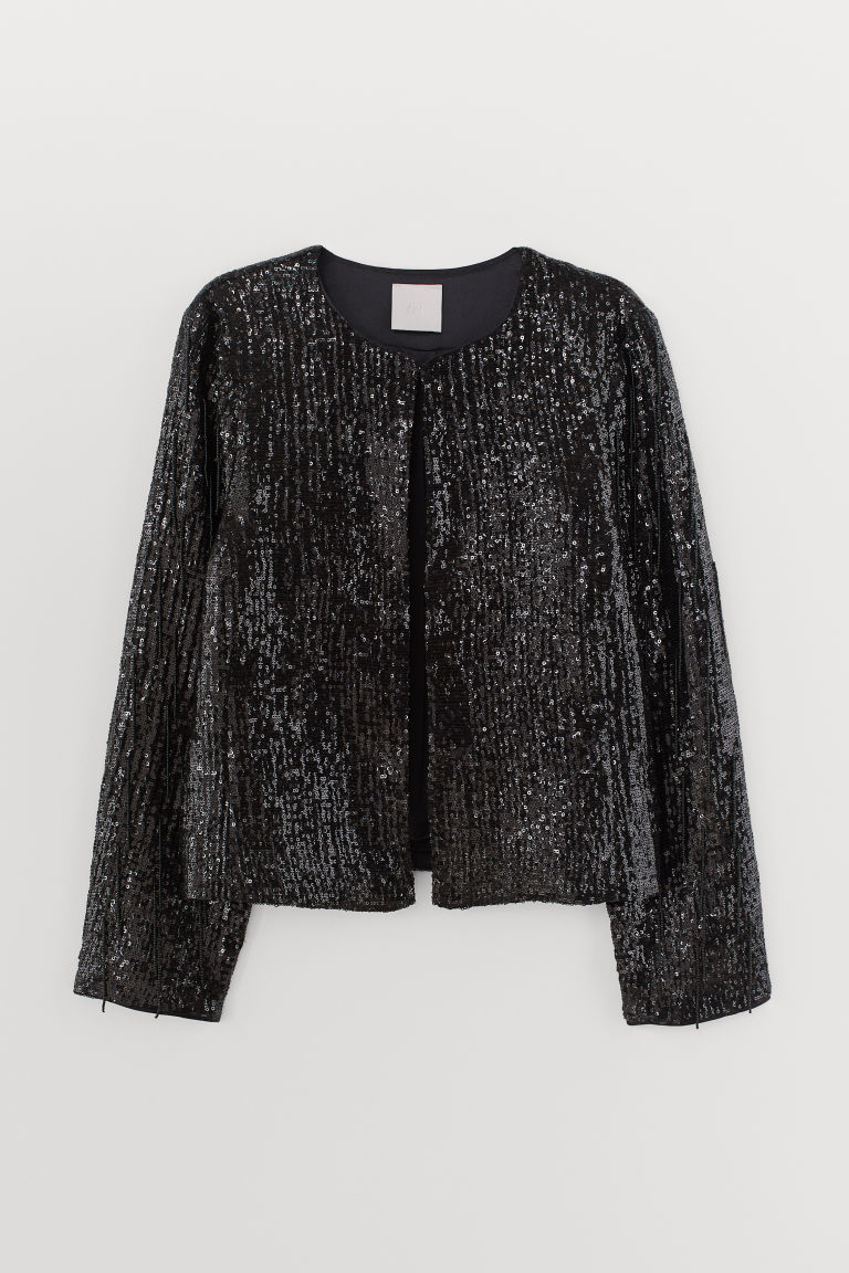 Sequined bead-fringed jacket - Black -  | H&M