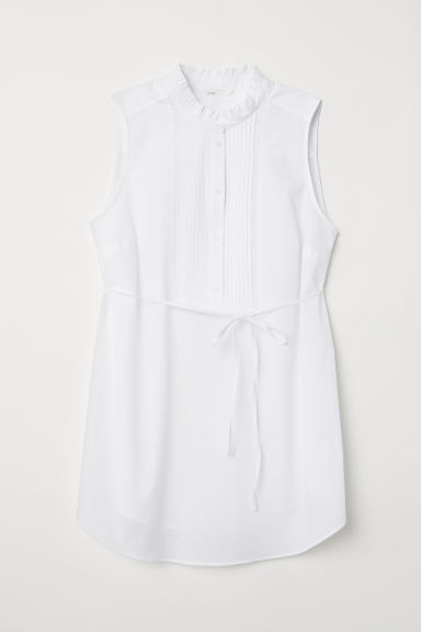 MAMA Cotton blouse - White - Ladies | H&M CN