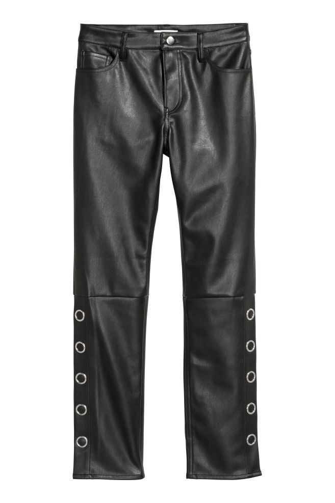 80922a0c38521 Faux Leather Pants - Black - | H&M ...