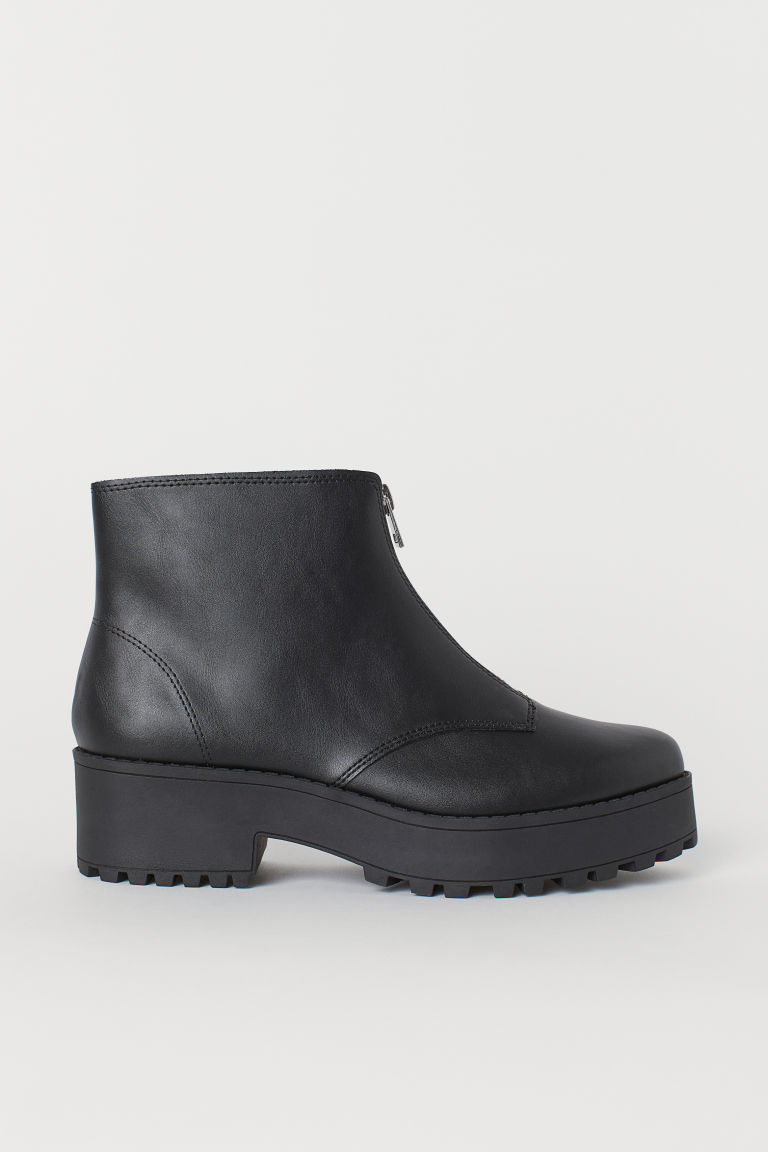 Ankle boots - Black/Zip -  | H&M CN